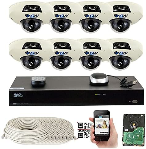 GW Security 5-Megapixel 8 Channel PoE 4K NVR Security Camera System – 8 5MP Video Audio Surveillance Weatherproof Microphone IP PoE Dome Cameras, 1.9mm 160 Super Wide Angle Lens
