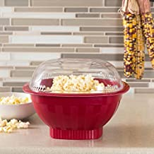 Nordicware Microwave Popcorn Popper with High Dome Lid (Red)