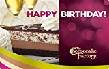 The Cheesecake Factory Birthday Chocolate Cheesecake Gift Cards - E-mail Delivery