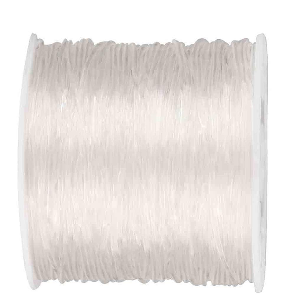 100 M Ligne Elastique De Perles Bracelet De Bijoux Artisanaux Faisant La Corde Lystaii 1mm Rond Transparent Ligne De Cristal Ligne De Soie De Poisson Elastique Transparent
