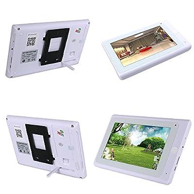 "MOUNTAINONE 720P 7"" WiFi Wireless Video DoorPhone intercom Doorbell IP Camera PIR IR Night Vision with 2 monitor 1 Outdoor camera"