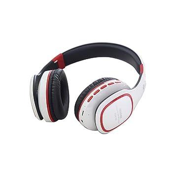 Kobwa - Auriculares inalámbricos Bluetooth con micrófono, control de volumen, tarjeta TF, reproductor