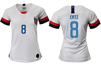 8843e739982 ZZXYSY Julie Ertz #8 2019-2020 USA National Team Women's Home Soccer Jersey/