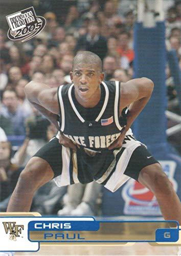 (2005 Press Pass Basketball Cards Blue #26 Chris Paul Wake Forest Demon Deacons)