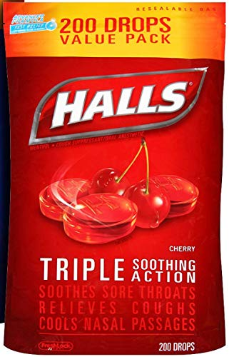 Halls Triple Soothing Action, Cherry, 200 ()
