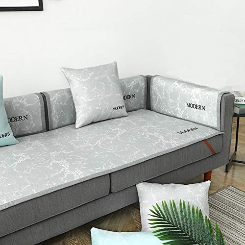 HM&DX Summer Mat Sofa Cover Cool Anti-Slip Couch Covers Stain Resistant Solid Color Decorative Slipcover Protector Living Room -a 70x150cm(28x59inch)
