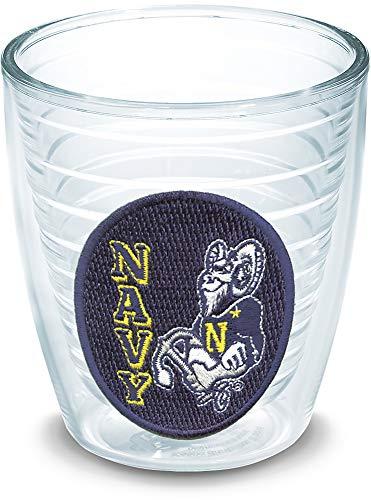 Tervis 1006663 Navy Midshipmen Logo Tumbler with Emblem 12oz, Clear