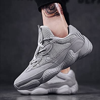 Ya-shoes Mens Running Shoes Lightweight Mesh Sneakers Breathable Casual Black