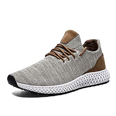 Mevlzz Mens Running Shoes Trail Fashion Sneakers Lightweight Tennis Sport Casual Walking Athletic for Men Basketball Volleyball Beige41