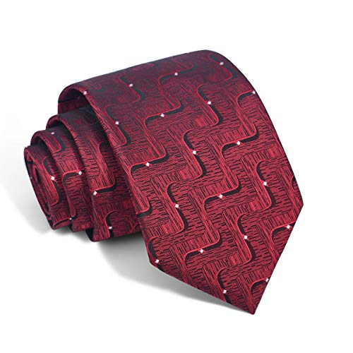 Red Tie Handmade Necktie New Design Neck Ties for Unisex (882)