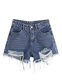 MakeMeChic - Pantalones Cortos para Mujer, diseño de Rayas