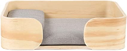 Mochila Caja de madera de la cama del gato Cama de la mascota del ...