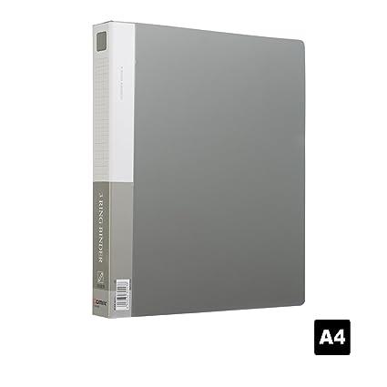 Comix A4 Carpeta presentación con 3 anillos -TC530AB(Gris ...