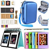 SAIKA HP Sprocket and Polaroid Zip Instant Printer Accessories - HP Sprocket Case(Clear Case Not Included), Photo Album, Wall Hanging Frame, Table Frame and Paintbrush - Blue