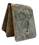 AlexVyan Lerv's Double Tone Brown and Tan Premium Stylish Bi Fold Wallet Men's Gents Boy's Wallet Purse