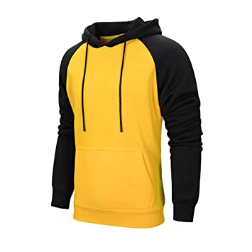 : Men's Hoodies Pullover Casual Solid Color