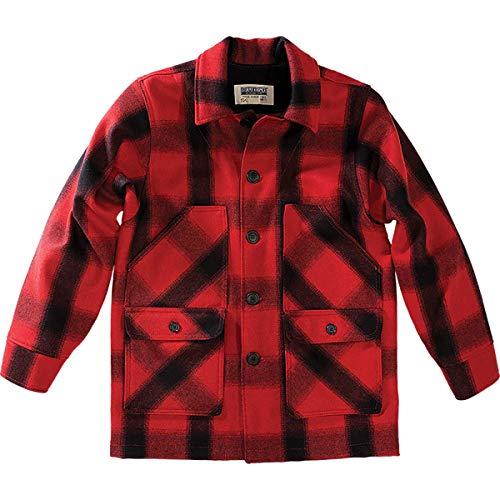 Stormy Kromer Men Mackinaw Coat Red/Black Plaid Xxxl