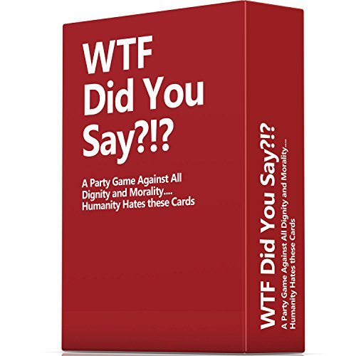 WTF Did You Say A Party Game Against All Dignity and Morality Full Game, XL Set of 594 Cards -
