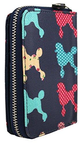 Signore pelle Fuschia Chihuahua medie portafoglio nuove Pattern Poodle Kukubird ragazze w407Ez1x