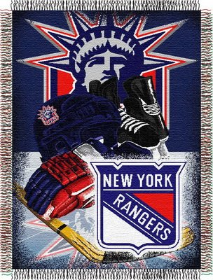 Ny Rangers Throw (The Northwest Company Officially Licensed NHL New York Rangers Homefield Ice Advantage Woven Tapestry Throw Blanket, 48