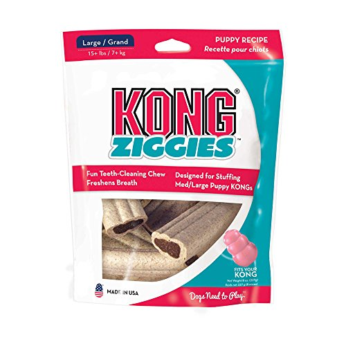 Ziggies Puppy 8 oz Pkg Large (Treats Dog Ziggies Kong)