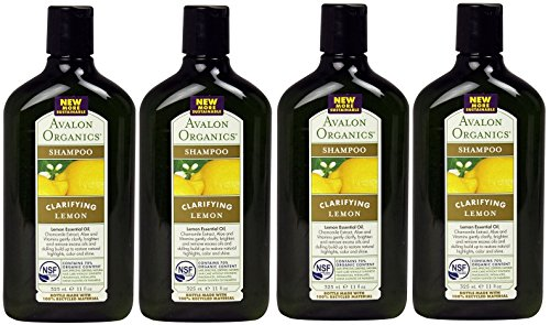 Avalon Organics Clarifying Lemon, Shampoo, 11 Ounce (Pack of 4)