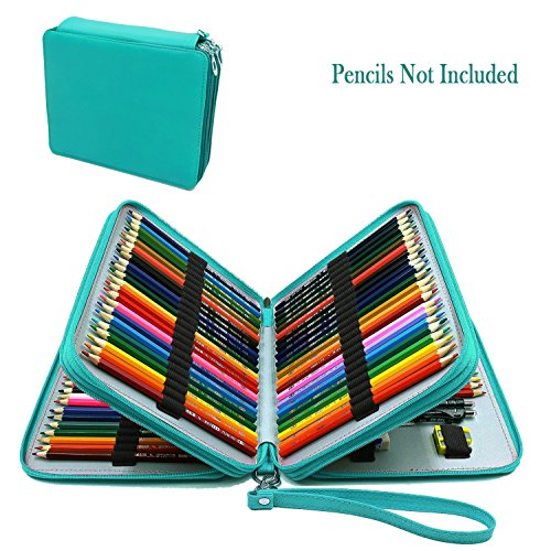 WeiBonD 120 Slots Colored Pencil Case – Large Capacity PU