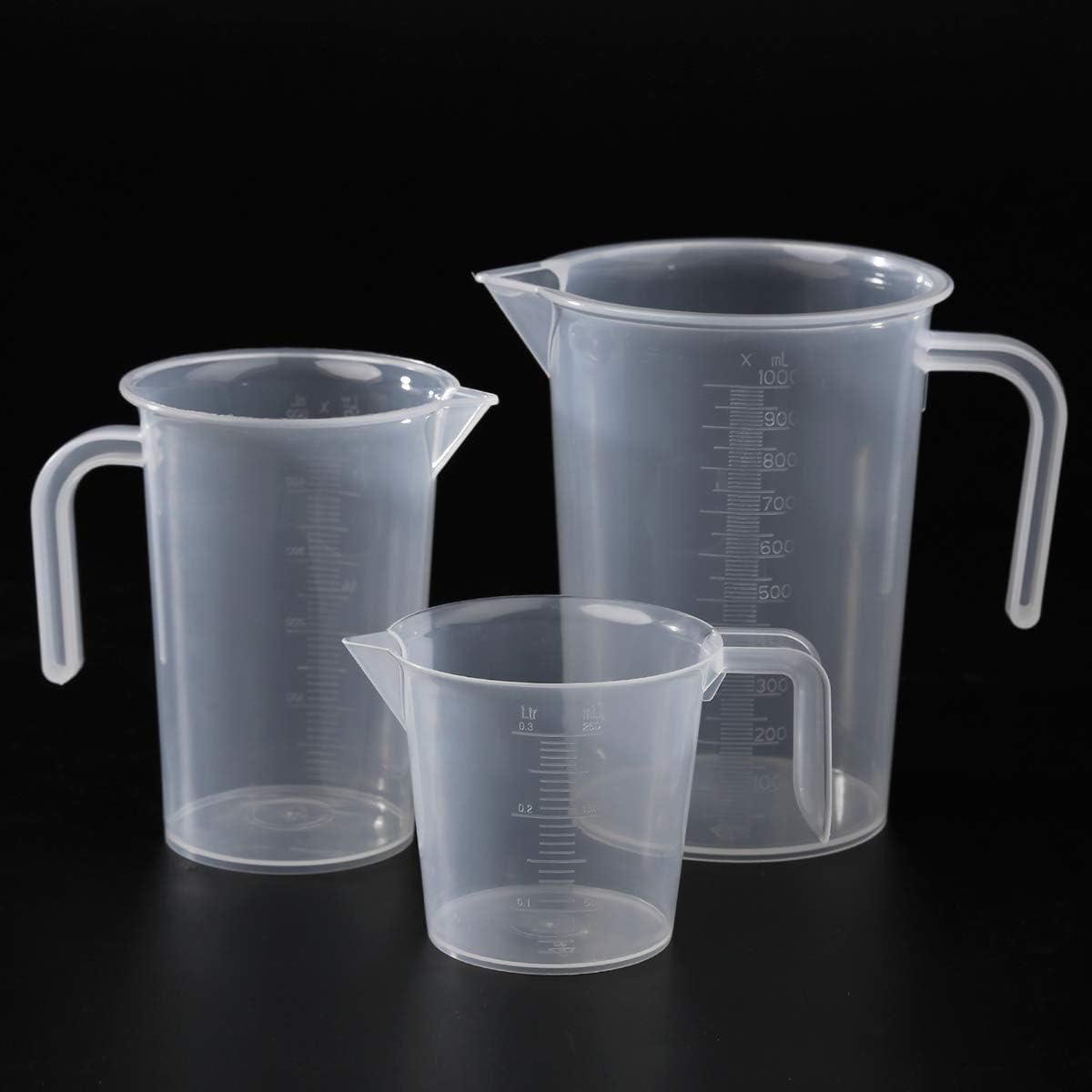 KitchenCraft Set of 3 Plastic Measuring Jugs