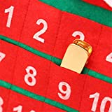 Santa Christmas Advent Calendar, 24 Day Hanging