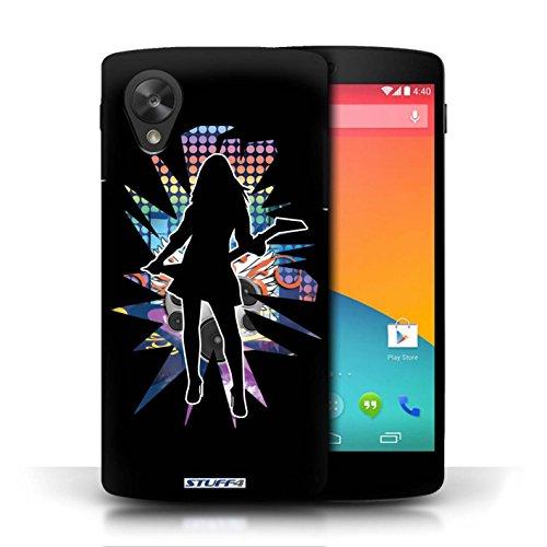 Etui / Coque pour LG Google Nexus 5/D821 / Rock Dame Noir conception / Collection de Rock Star Pose