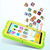 """Yuntab Kids Tablet Q88R 7"""" Allwinner A33,1.5Ghz Quad Core Android 4.4 Tablet PC,512+8GB,HD 1024x600,Dual Camera,WiFi,3D Game &TF Card,Supported with Parental Control Software - iWawa(Green)"""