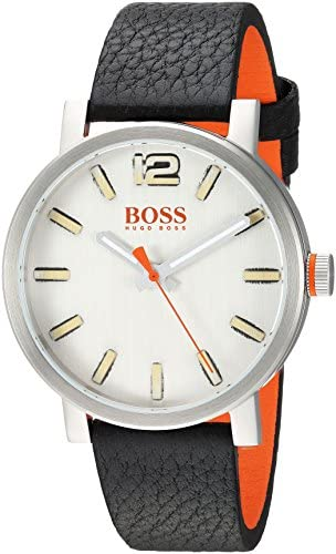 BOSS Orange Men s 1550035 Bilbao Analog Display Quartz Black Watch
