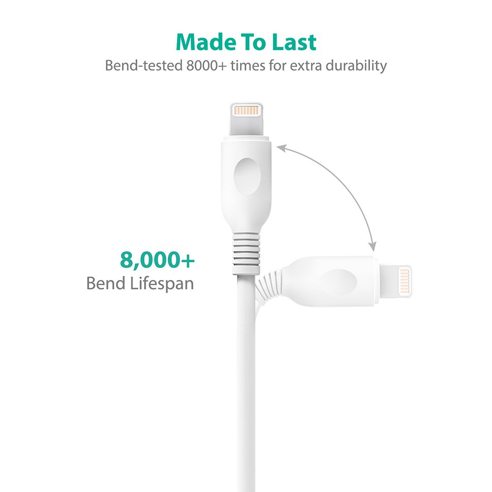 Amazon.com: RAVPower iPhone Cables 2-Pack Apple MFi 3 ft ...
