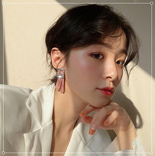 usongs women girls gold velvet diamond earrings retro elegant simple snap-square earrings personality (Retro Diamond Snap)