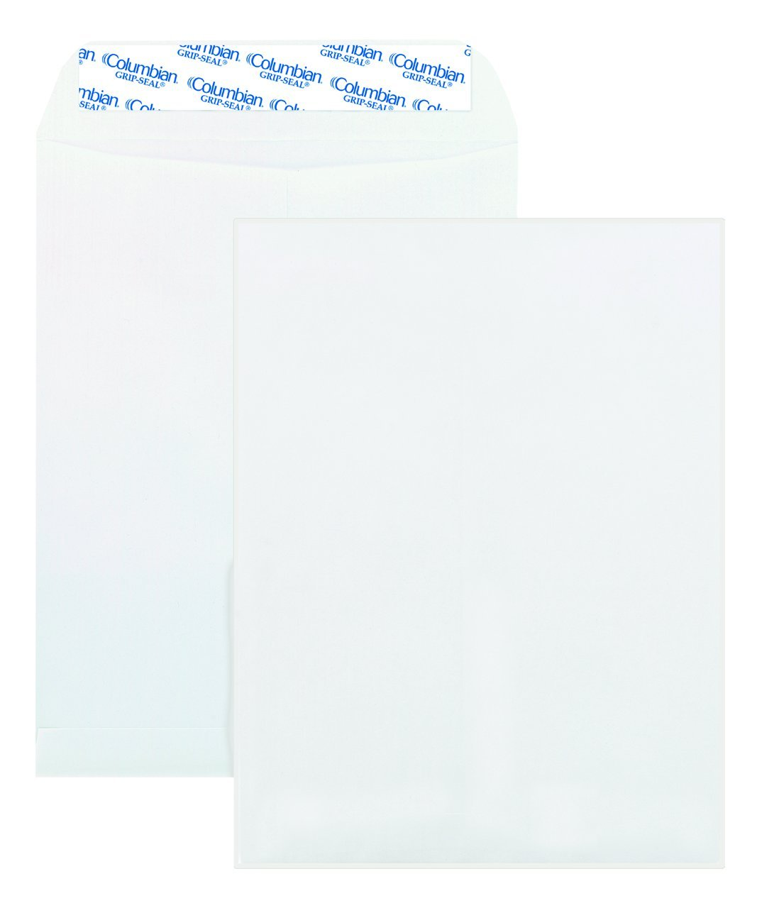 Columbian Catalog Envelopes, Grip-Seal, 9'' x 12'', White, 100 Per Box (CO920)
