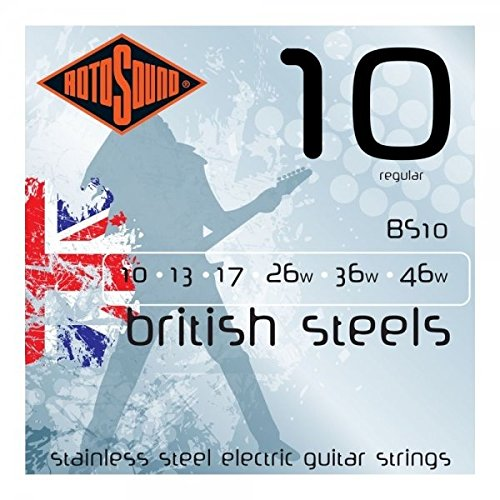 British Guitar (Rotosound BS10 British Steel Electric Guitar Strings (10-46))