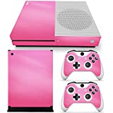 Gam3Gear Vinyl Decal Protective Skin Cover Sticker for Xbox One S Console & Controller (NOT Xbox One Elite/Xbox One/Xbox One X) - Pink