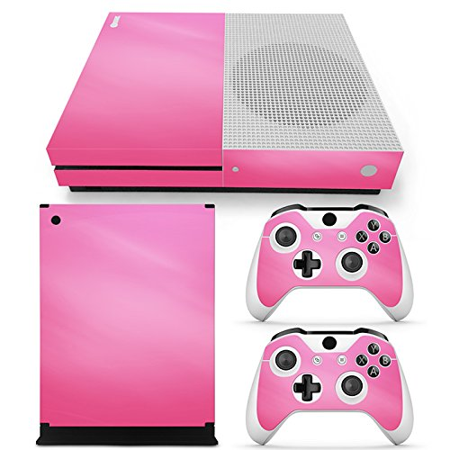 Gam3Gear Vinyl Decal Protective Skin Cover Sticker for Xbox One S Console & Controller - Pink