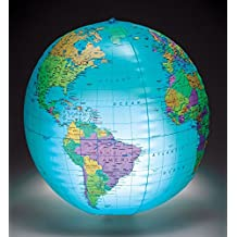 """Learning Resources 12"""" Inflatable Globe with Light"""