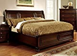 Best 247SHOPATHOME Kings Furniture King Size Beds - Northville Traditional Elegant Style Cherry Finish Eastern King Review