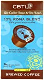 CBTL 10% Kona Blend Brew Coffee Capsules By The Coffee Bean & Tea Leaf, 16-Count Box