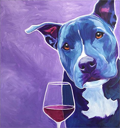 Shakti With Wine by DawgArt Laminated Art Print, 16 x 17 inches