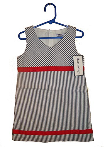 Hartstrings Girls Sleeveless Woven Dress Gray and Red Size 4 - Hartstrings Sleeveless Dress