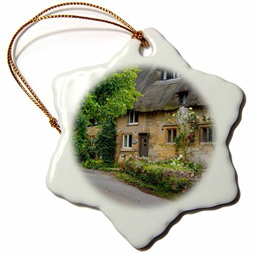 Funny Christmas Snowflake Ornaments Thatched Roof Home In Stanton The Cotswolds Gloucestershire England Holiday Xmas Tree Hanging Ornaments Decoration Gifts