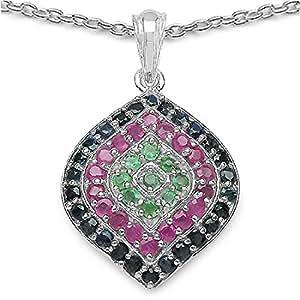 Noble Collier / Emerald Necklace / Rubí / Zafiro Colgante 2.65 quilates