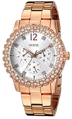 GUESS U0335L3 Gold Tone Multi Function Accented
