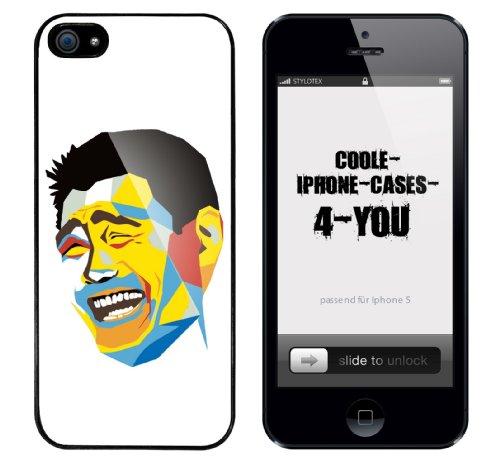 Iphone 5 Case Retro Guy Rahmen schwarz