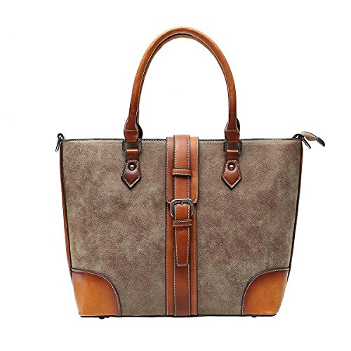 Genuine Leather Purse Tote Bag (Women's Vintage Handbag Genuine Leather Tote Shoulder Bags Crossbody Bag (Coffee))