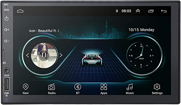 Radio de Coche Doble DIN de 7 Pulgadas Android 9.0 Radio Universal ...