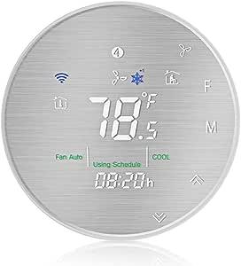 Moligh doll BHP 6000LS WiFi Termostato de Bomba de Calor Inteligente Controlador de Temperatura Programable Panel Cepillado de Metal: Amazon.es: Bricolaje y herramientas